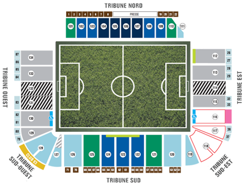 Olympic Stadium Seating Chart Montreal Impact
